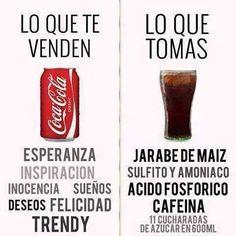 Marketing vs. Realidad en la Coca Cola.