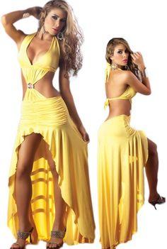 Sexy Long Yellow Dress – Latin Salsa Style – « Dress Adds Everyday