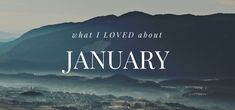 What I Loved About January