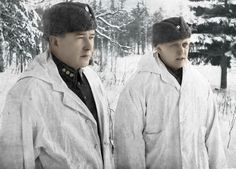 Saturday 9 December 1939 Colonel Hjalmar Siilasvuo (left) during the battle of Suomussalmi (colorized). Lieutenant General, The Republic, World War Two, Wwii, Winter, British, Army, People, 9 December