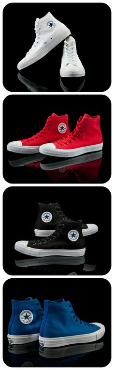 Add an updated classic to your collection. The Converse Chuck II Hi is now available.