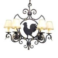 Rooster Chandelier For Mike Country Chandeliercountry Charmprimitive