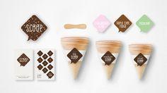 SCOOP Ice Cream #branding #icecream #scoop #logo