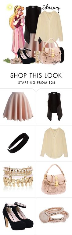 """""""Eilonwy - Disney's The Black Cauldron"""" by rubytyra ❤ liked on Polyvore featuring Chicwish, Velvet by Graham & Spencer, L. Erickson, By Malene Birger, River Island, Lola Rose, women's clothing, women, female and woman"""