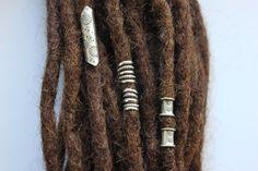 5 Sterling Silver Dreadlock cuffs- dreadlock accessories - Dread beads - Dreadlock Jewelry