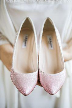 Pink sparkly shoes @weddingchicks