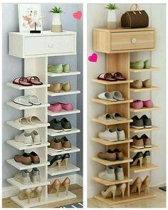 Smart DIY Entryway Shoe Storage Ideas & Hacks For diy furniture small spaces, Shoe Storage Hacks, Shoe Storage Design, Entryway Shoe Storage, Shoe Storage Cabinet, Rack Design, Storage Ideas, Storage Cabinets, Smart Storage, Storage Rack