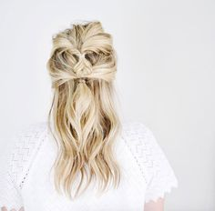 Half-up double twist by Kate Bryan