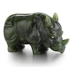 Fabergé Nephrite Rhino