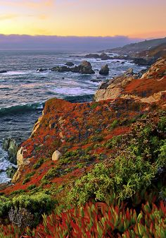 Sunset at Garrapata State Park, Carmel Highlands, California; photo by Joe Ganster