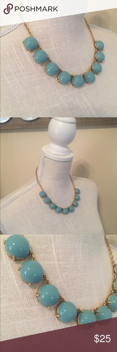 JCrew NWT Aqua Bubble Necklace ❤️ JCrew New with Tags Aqua Bubble Necklace. So cute!! Love the color!! Can be adjusted to different lengths.Can be worn with jeans, skirt, dress, blouse or sweater!! Will come in original JCrew Jewelry Bag. Great gift for yourself or for a friend for Valentine's Day!!❤️ J. Crew Jewelry Necklaces