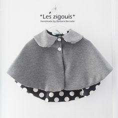 Capelet with polka dot lining!