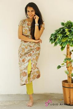 Work wear kurtis and suit sets - house of ayana Churidar Designs, Kurti Neck Designs, Kurta Designs Women, Kurti Designs Party Wear, Designer Kurtis, Simple Kurta Designs, Casual Indian Fashion, Velvet Dress Designs, Cotton Saree Designs