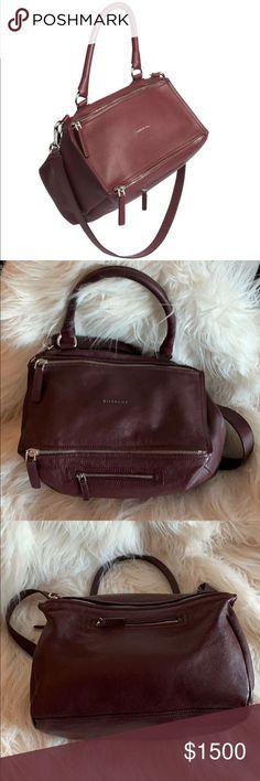 c4e96ae6ac Givenchy Maroon Medium Pandora Bag Removable, adjustable shoulder strap,  18.5