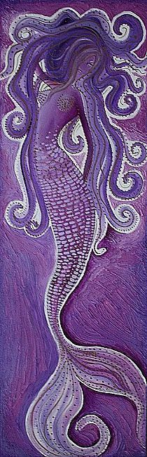 Art: Purple Mermaid by Artist Laura Barbosa