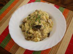 Risotto de setas y parmesano // Mushroom and parmesan risotto.