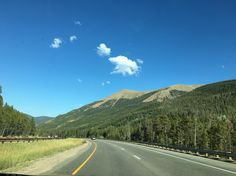 The drive down I-70 back to Denver