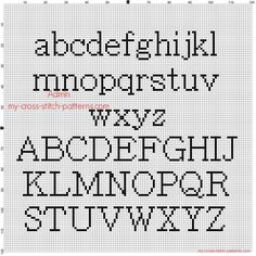 Collection Of solutions Cross Stitch Alphabet Batang All Letters Free Pattern Magnificent How to Cross Stitch Letters Cross Stitch Letter Patterns, Cross Stitch Letters, Cross Stitch Boards, Cross Stitch Samplers, Cross Stitch Designs, Cross Stitching, Cross Stitch Embroidery, Stitch Patterns, Cross Stitch Font
