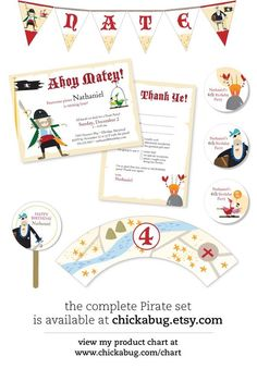 pirate party printables by Chickabug on Etsy  @Christine Cohn