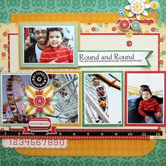 cosmo cricket_baby jane_family scrapbook layout
