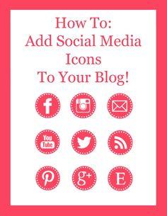 How To: Add Social Media Icons To Your Blog via Hopeful Honey