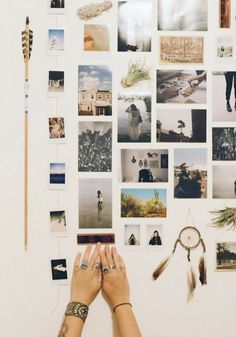 Start planning your dorm room decor with this helpful guide on how to hang pictures creatively.: