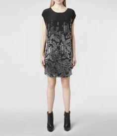 Womens Livie Dress (Black) | ALLSAINTS.com