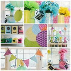 Bright Color Polka Dot Party Classroom Theme