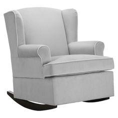 Beautiful Eddie Bauer Wingback Upholstered Rocker via @Target #baby #nursery #funfindalert