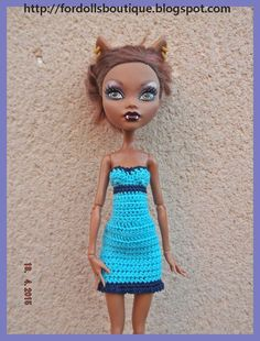 Ropa para Monster High: vestido de Fordollsboutique en Etsy