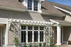 64 Super Ideas For Exterior Window Awnings Curb Appeal Garage Doors Garage Pergola, Cheap Pergola, Pergola Ideas, Outdoor Rooms, Outdoor Living, Outdoor Kitchens, Diy Awning, Awning Canopy, Windows
