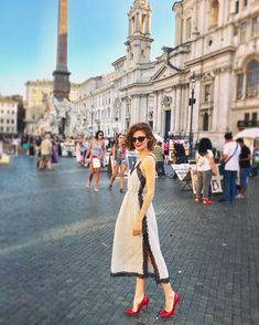 Martina Sciotto (@red_martina_) • Фото и видео в Instagram Piazza Navona, Rome, White Dress, Lifestyle, People, Beautiful, Instagram, Dresses, Fashion