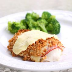 Easy Chicken Cordon Bleu- Made 5/18: LOVED it. Next time, only use 1 piece of bread for crumbs for two breasts. Also, I used 2 slices of ham and cheese on each. Salt and pepper on chicken before adding bread crumbs. Make Mom's sauce to go on top   Sauted mushrooms  1 can crm of mushroom soup (or omit and just make a roux for chicken broth?)   1 cup chicken broth  1/2 c sour cream