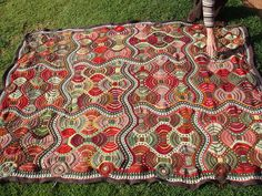 Knit blanket by Dolliewollie on Ravelry