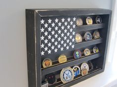 Military Challenge Coin Display Case Shadow by AllyBoosCreations