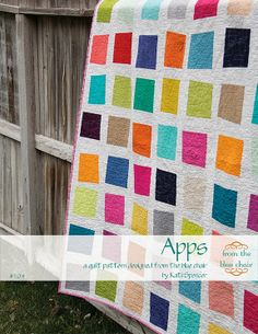 There's nothing like squares! This almost looks like a charm pack quilt pattern, but we love the uneven look of the blocks.