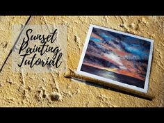 In this video I paint a sunset over the ocean. I used acrylic paint on watercolor paper. Before I started painting the clouds I took a break to let the backg. Acrylic Art, Watercolor Paper, Art Tutorials, Acrylics, Clouds, Make It Yourself, Sunset, Youtube, Painting