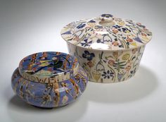 Jessie Marion King, A 'Snow White' circular powder bowl and cover,