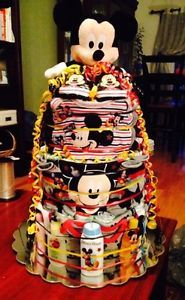 Mickey Mouse Themed Diaper cake!  Can create any theme you'd like! so cute!!