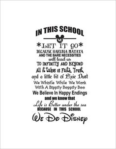 Shop for disney on Etsy, the place to express your creativity through the buying and selling of handmade and vintage goods. School Counselor Office, To Infinity And Beyond, Teacher Quotes, Hakuna Matata, Disney Quotes, Happy Endings, Letting Go, Believe, Faith