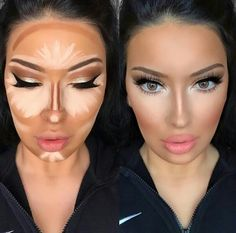 How to apply contour makeup according to your complexion - Make up - maquillage - Contouring Face Contouring, Contour Makeup, Skin Makeup, Beauty Makeup, Contouring Products, Blush Makeup, Makeup Techniques, How To Apply Makeup, How To Contour Your Face