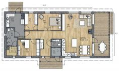 LATO 125 C - Kannustalo / Tämäkin vaikuttaa hyvältä! House Floor Plans, Screen Shot, My Dream Home, Sweet Home, Layout, Windows, Flooring, How To Plan, Architecture