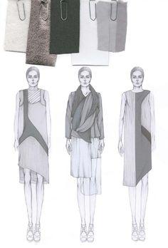 Fashion Sketchbook - fashion illustrations & fabric layout; fashion…