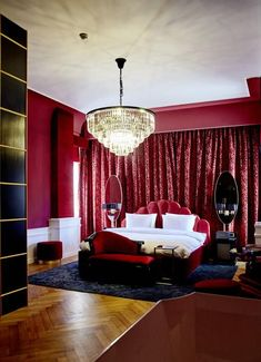 As the name suggests, Provocateur is an undeniably sexy looking new hotel. Berlin Hotel, Different Architectural Styles, French Style Homes, Art Nouveau Architecture, Velvet Curtains, Spacious Living Room, Fashion Room, Kitchen Styling, Berlin Today