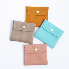 Small Suede Pouch #mint #coin pouch