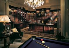 Study with pool table