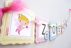 Woodland Fairy Banner for Girl's Birthday, Baby Shower or Room Decor | adorebynat - Seasonal on ArtFire