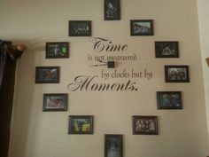 Family pictures clock , my new winter project ..So excited!