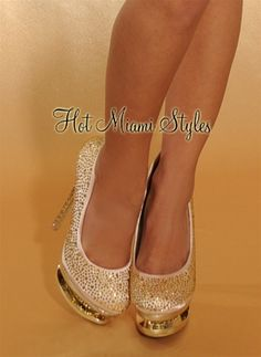 $79.99: Shimmer the night away in this luxe modern-chic rhinestones pumps.