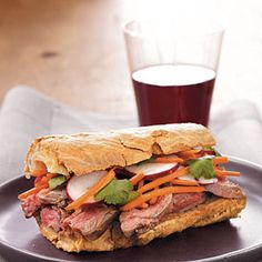 Banh Mi–Style Roast Beef Sandwiches Recipe (Use our new Udi's GF Baguette)